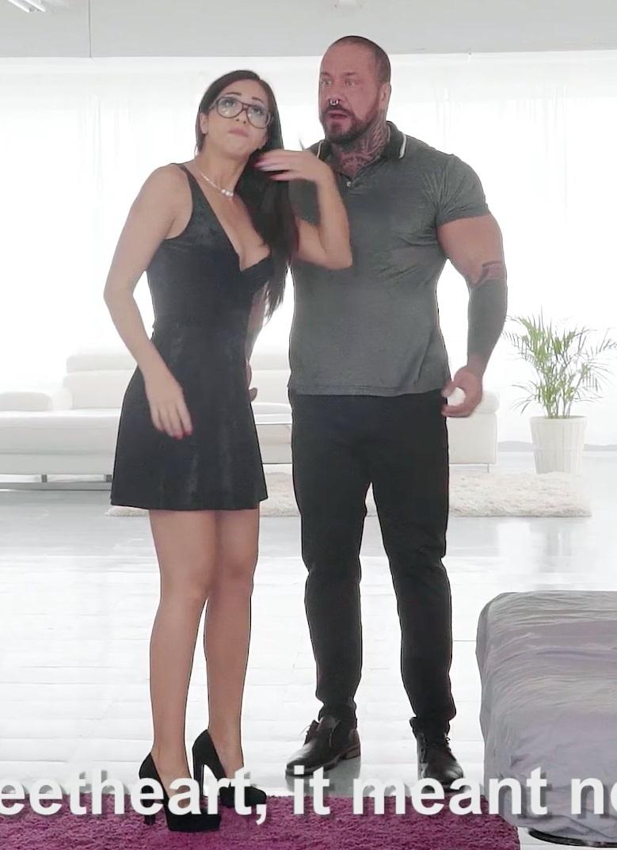 [BreakingAsses.com / CumLouder.com] Julia de Lucia (Anal Reconciliation / 14.11.2017) [2017 г., Blowjob, Hardcore, Brunette, Tattoo, Big Dick, Big Tits, Anal, 1080p]