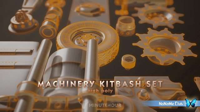 3D модели - Minutehour Studio - Machinery Set - Kitbash - High Poly Pack [FBX, ZBP]