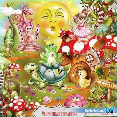 Растровый клипарт - Сказочный детский скрап-набор - Wonder Village [PNG, JPG, PSD]