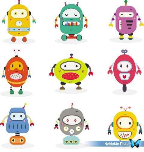 Векторный клипарт - Cartoon Funny Robots 11 [AI]