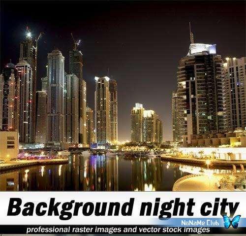 Растровый клипарт - Shutterstock - Background night city [JPG]