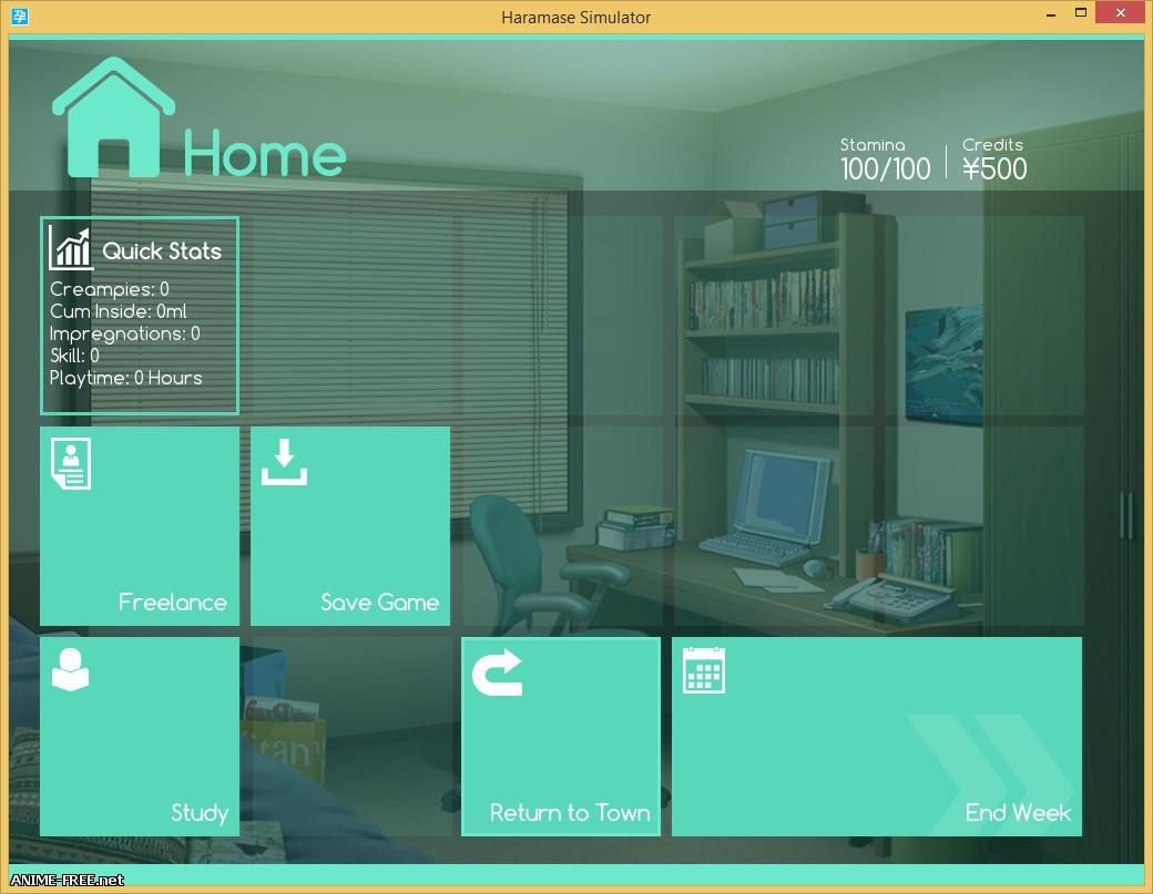 Haramase Simulator (0.3) / Симулятор оплодотворения (0.3) [2016] [Ptcen] [ADV, SLG] [Android compatible] [ENG,RUS] H-Game