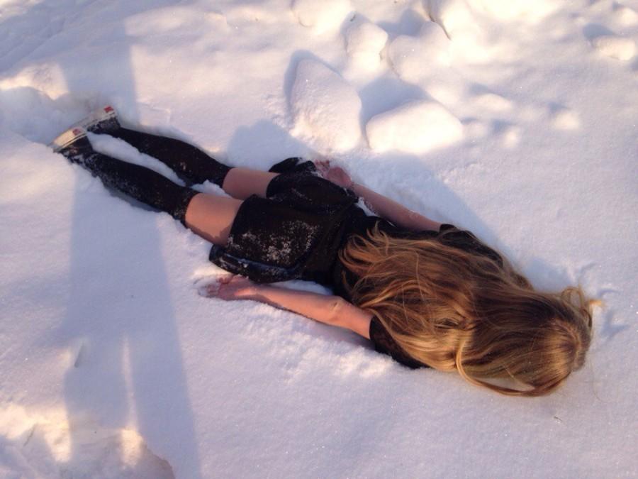 Лицом в снегу