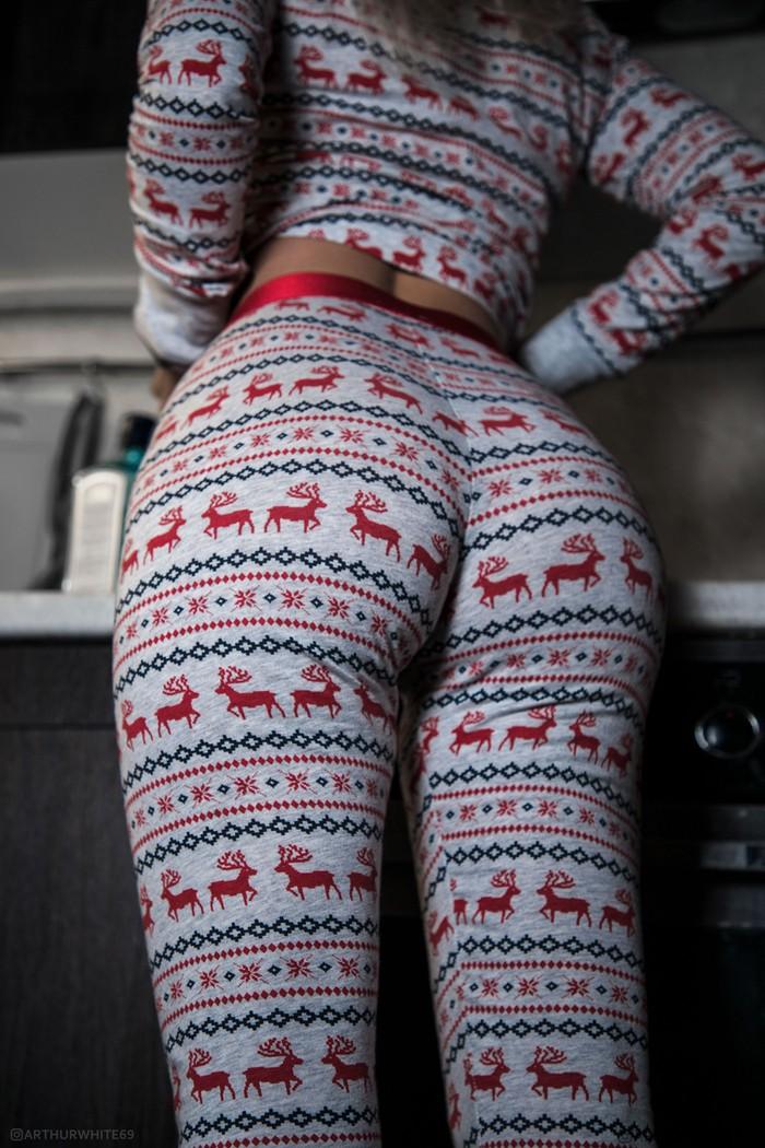 Пижамка с оленями
