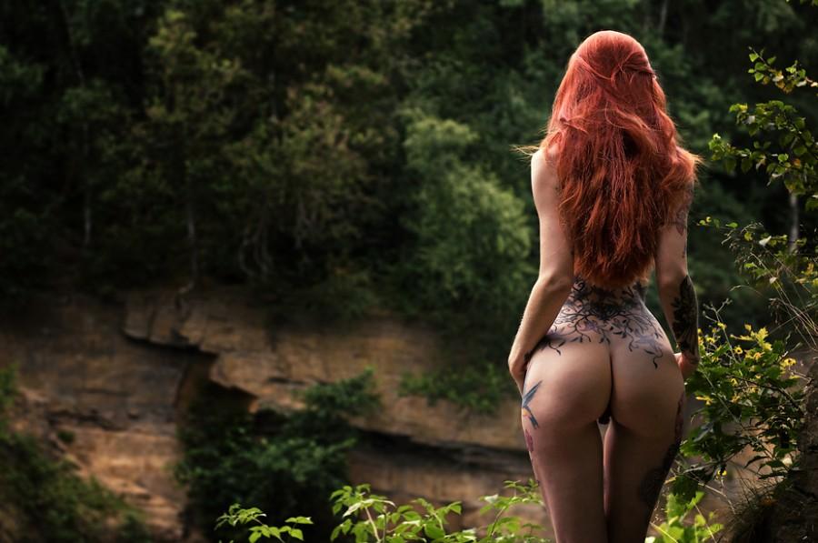 Густые рыжие волосы