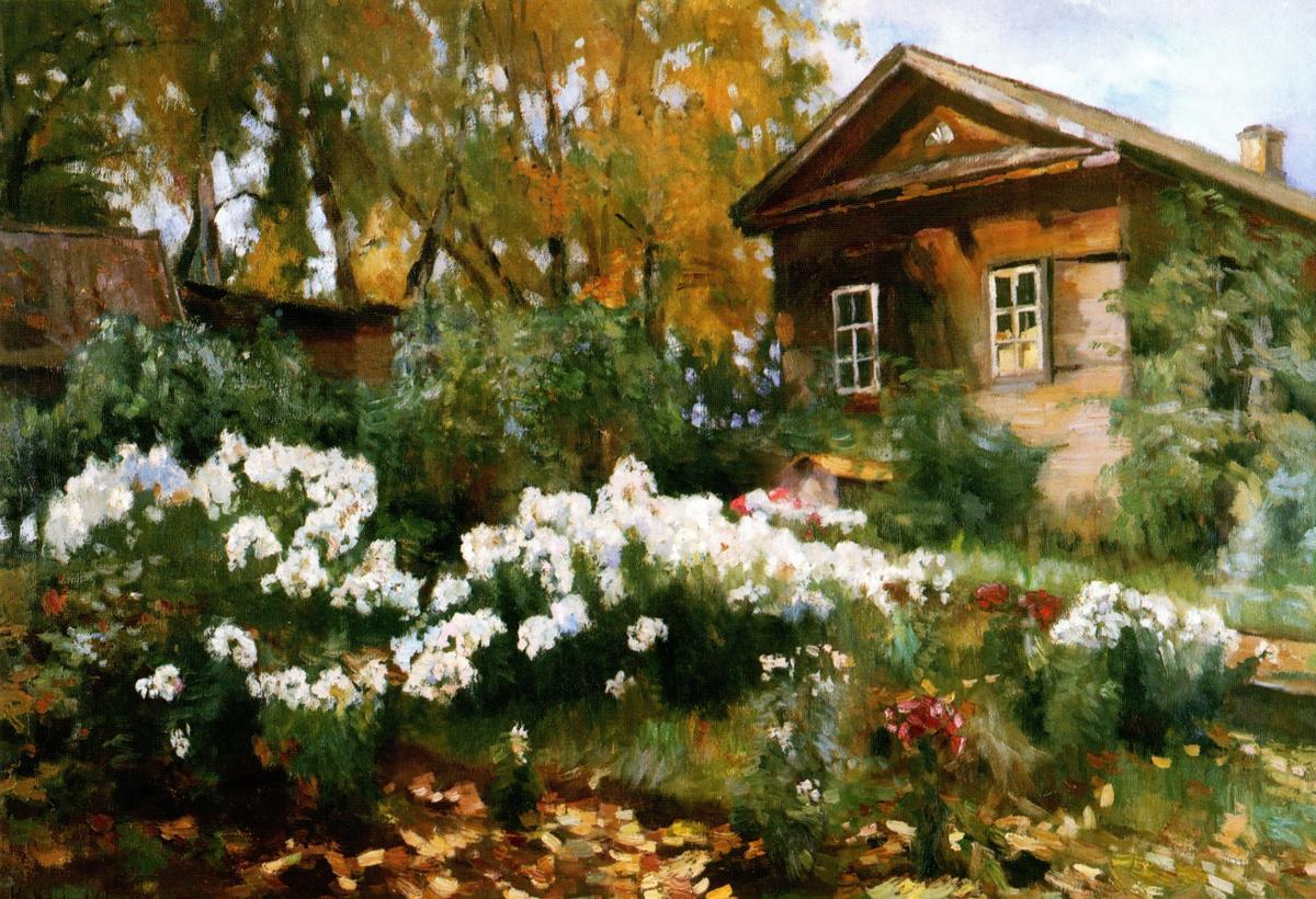 Флоксы в саду. 1921.jpg