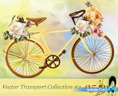 Векторный клипарт - Vector Transport Collection #2 [AI]