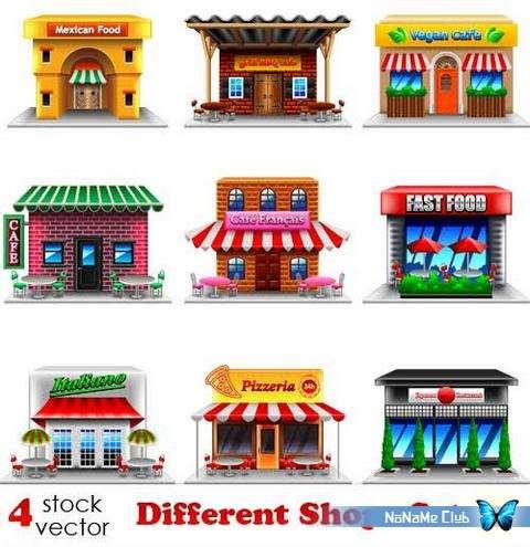 Векторный клипарт - Different Shops Set 22 [AI]