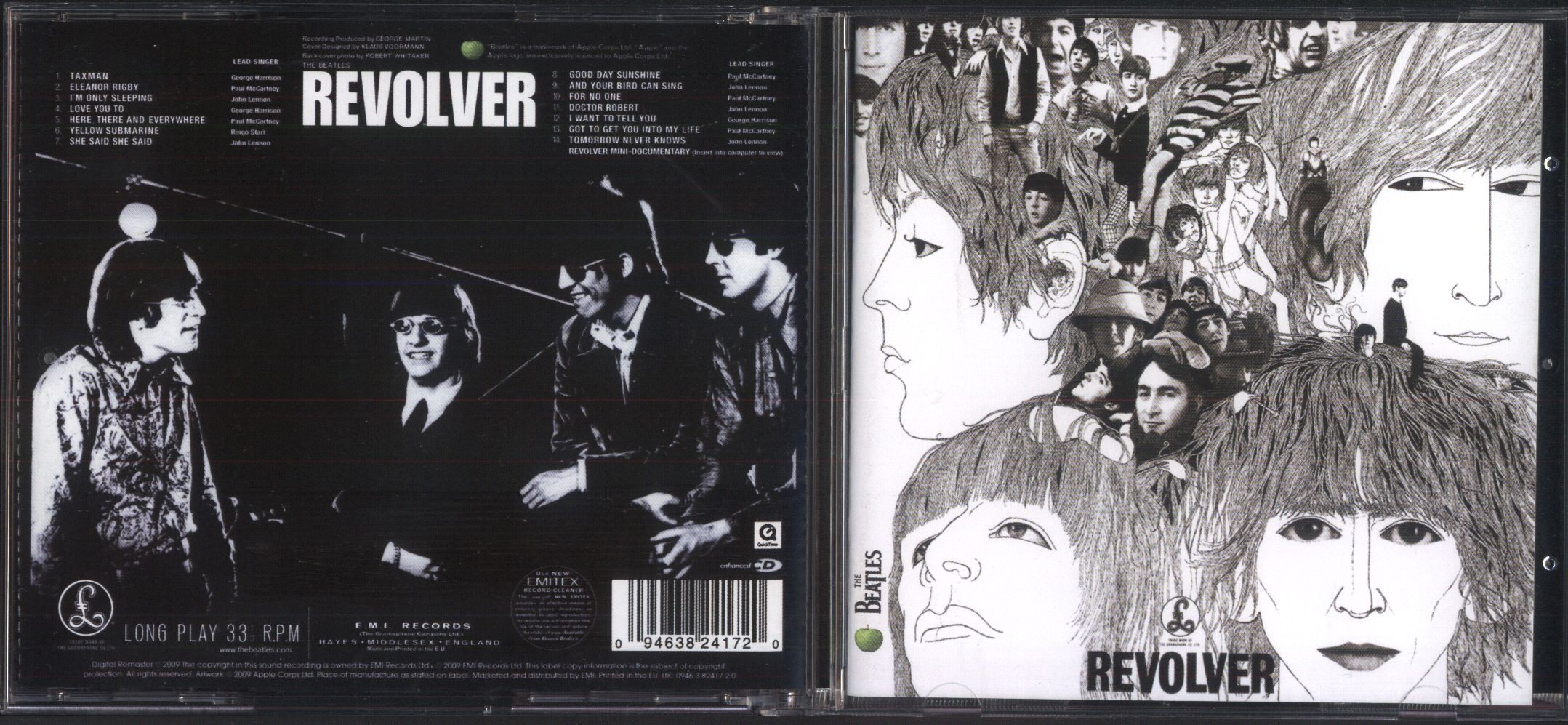 BEATLES - Revolver (2009 Remastered Edition, Jewel Case Edition, 24page Booklet)