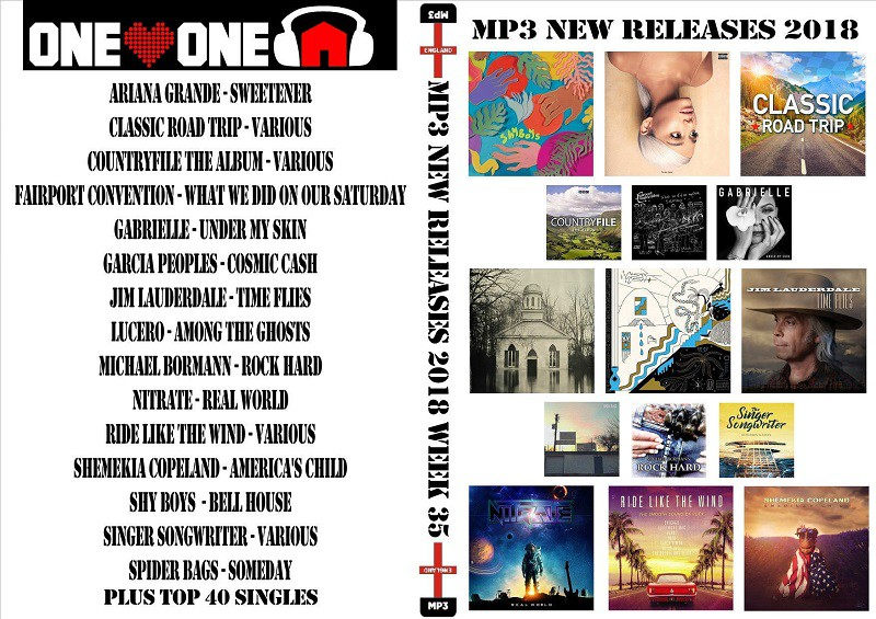 MP3 New Releases 2018 Week 35