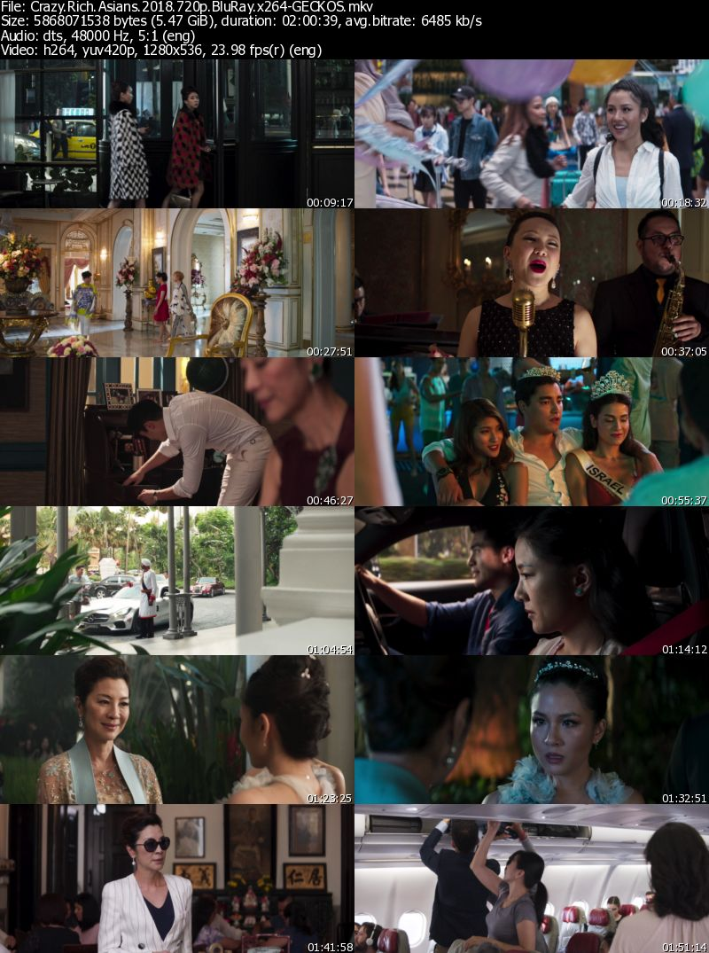 Crazy Rich Asians (2018) 720p BluRay x264-GECKOS