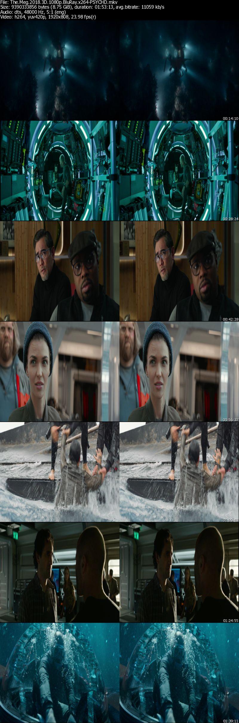 The Meg (2018) 3D 1080p BluRay Half-SBS x264-PSYCHD