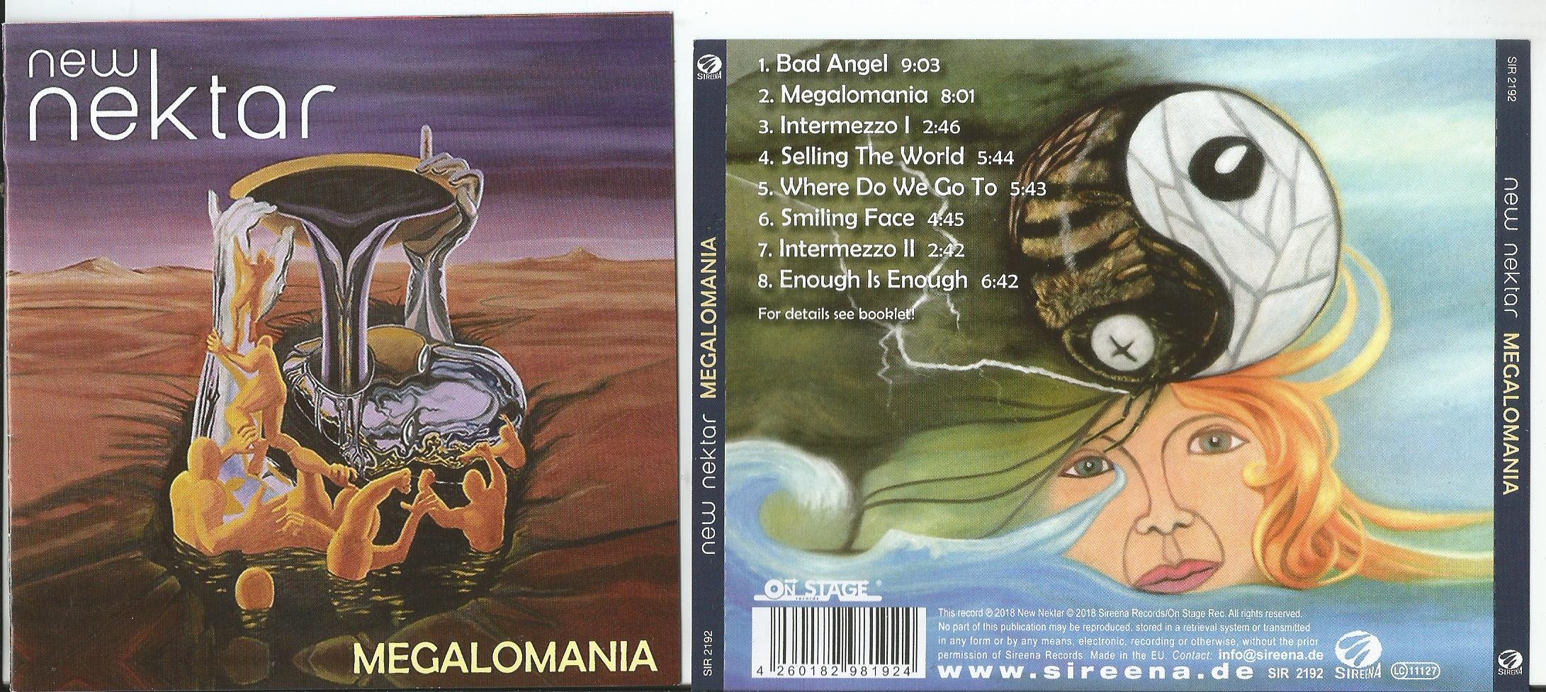 NEKTAR Megalomania (12page booklet with lyrics)