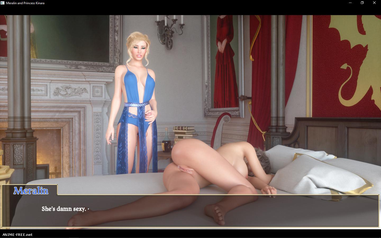 Meralin and Princess Kinara [2018] [Uncen] [3DCG, Digital Novel] [ENG] H-Game