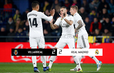 Villarreal CF - Real Madrid C.F. 2:2