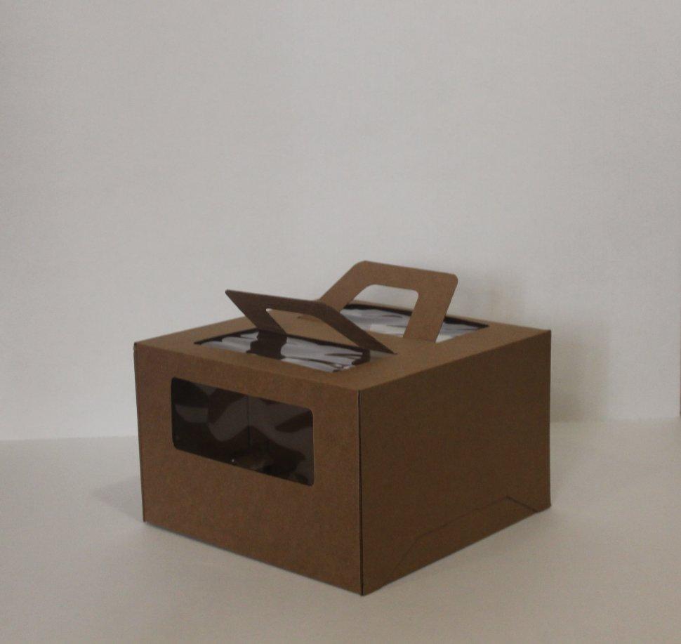 Купить коробку для торта с ручками