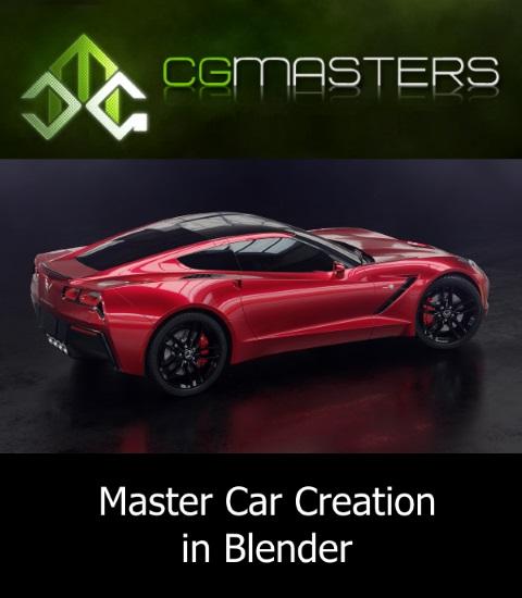 CG Masters | Мастер создания автомобиля в Blender / Master Car Creation in Blender (2018) PCRec [H.264 / 1080p-LQ] [EN]