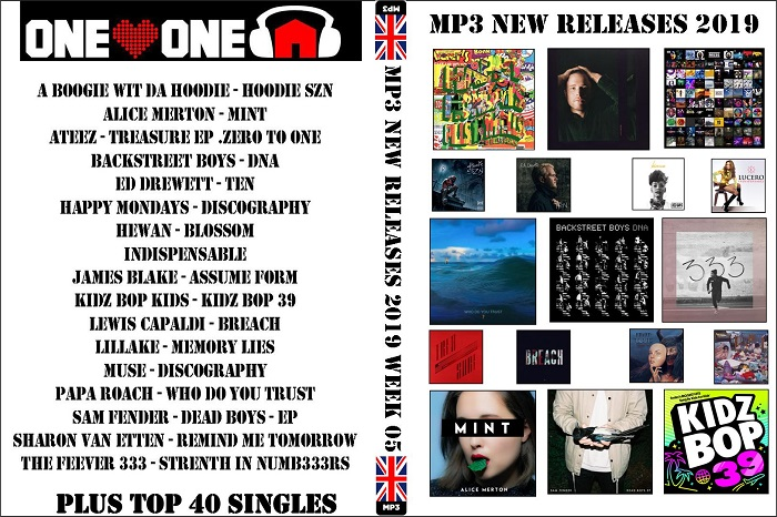 MP3 NEW RELEASES 2019 WEEK 05