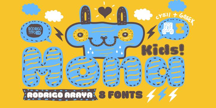 Шрифт La Mona Kids