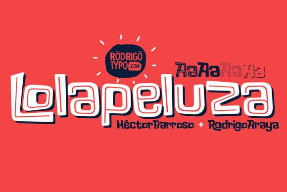 Шрифт Lolapeluza
