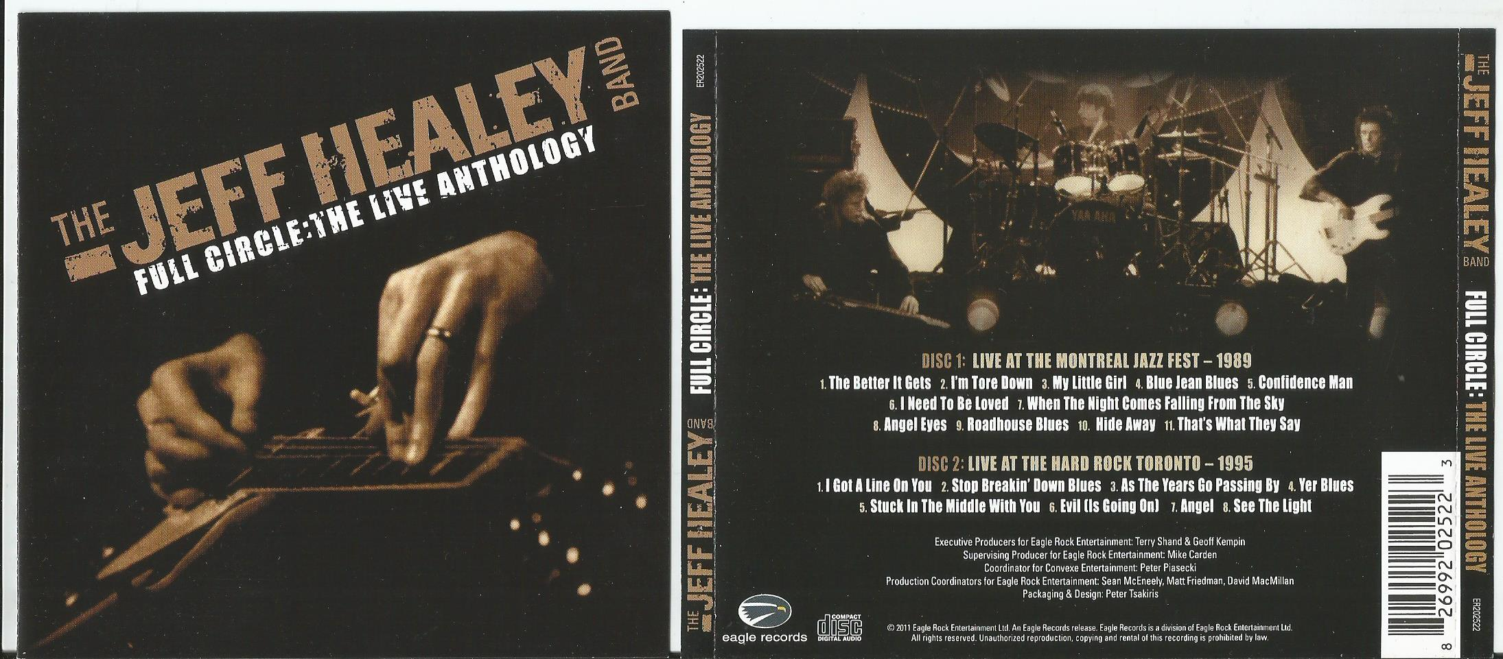 Full circle: the live anthology (3cd & dvd) by Jeff Healey Band, CD
