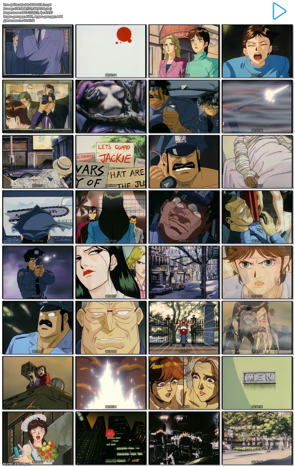 MAD★BULL 34 / Mad Bull 34 / Бешеный Бык 34 [Ep.1-4] [RUS,ENG,JAP] [720p] Anime Hentai