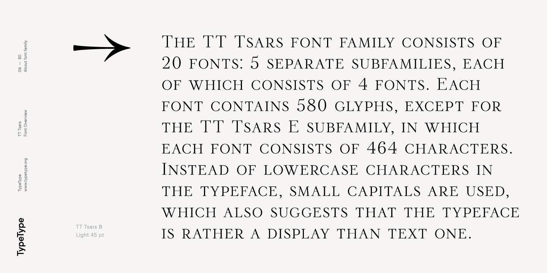 Шрифт TT Tsars