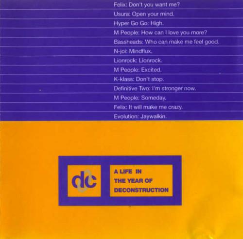 (House, Breakbeat, Techno, Progressive House) [CD] VA - A Life In The Year Of Deconstruction - 1993, FLAC (tracks+.cue), lossless