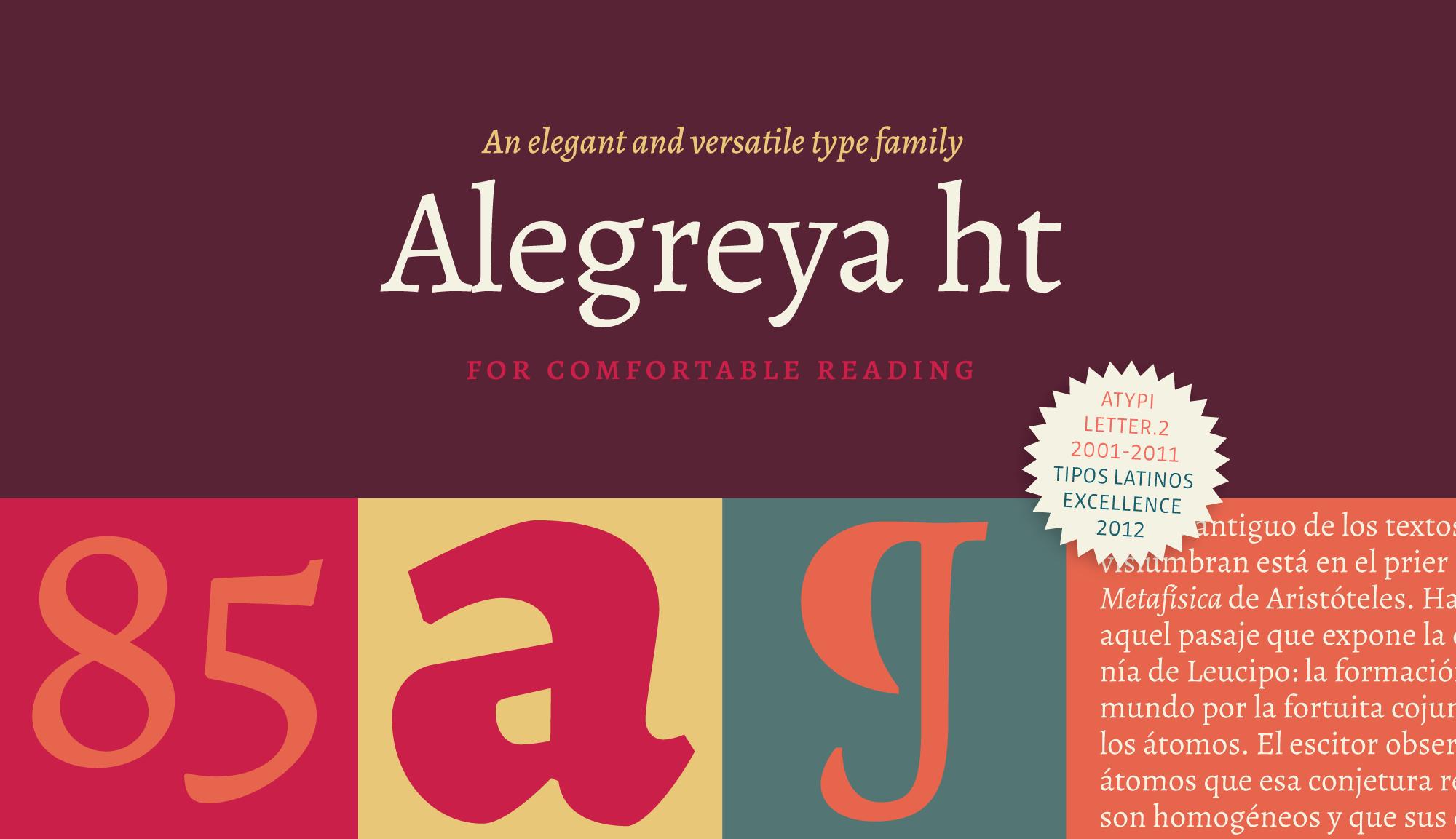 Шрифт Alegreya HT Pro