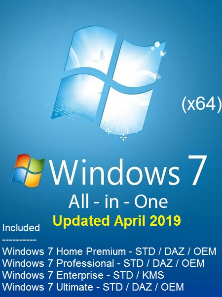 Windows 7 SP1 AIO (11-in-1) ESD En-US (x64) April 2019-Gen2