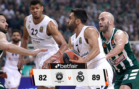 Panathinaikos BC - Real Madrid Baloncesto 82:89