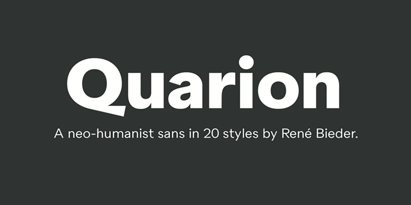 Шрифт Quarion
