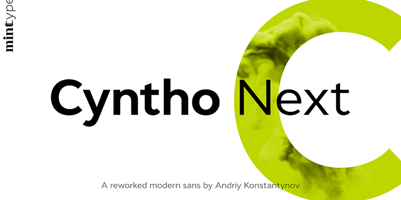 Шрифт Cyntho Next