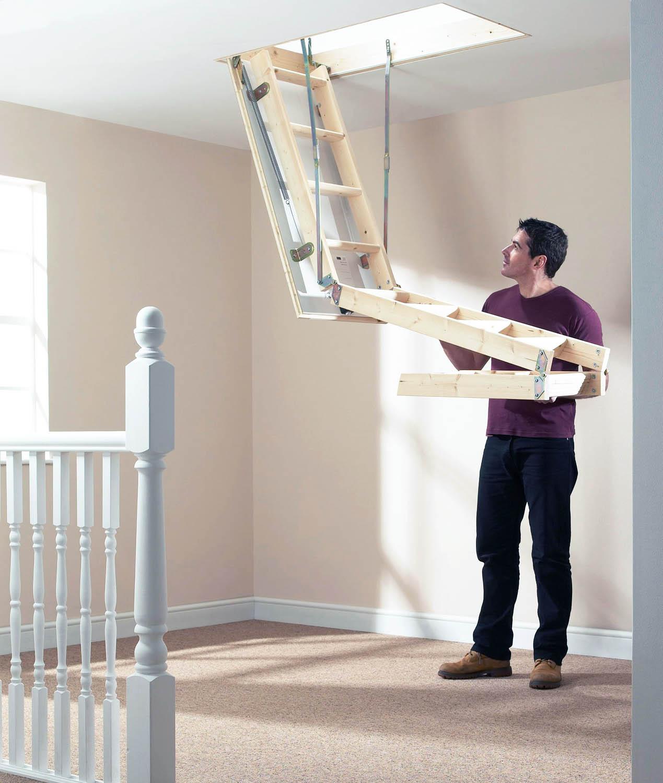 Механизм раскладывания чердачной лестницы