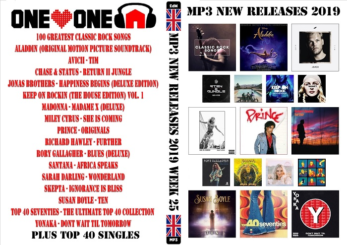 MP3 NEW RELEASES 2019 WEEK 25