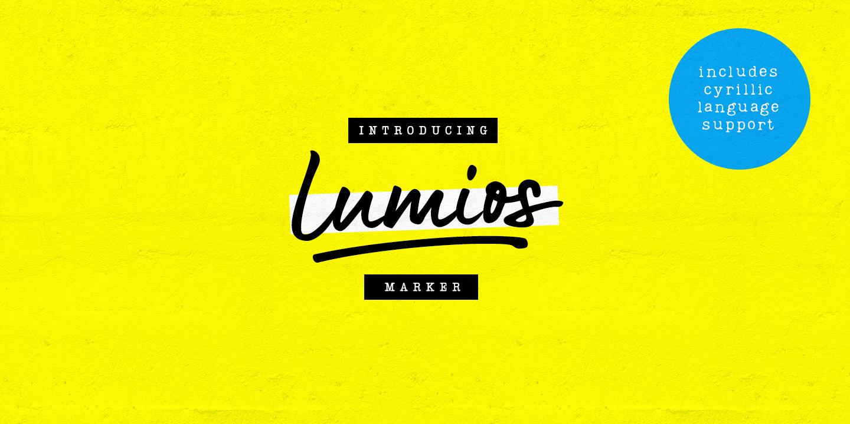 Шрифт Lumios Marker