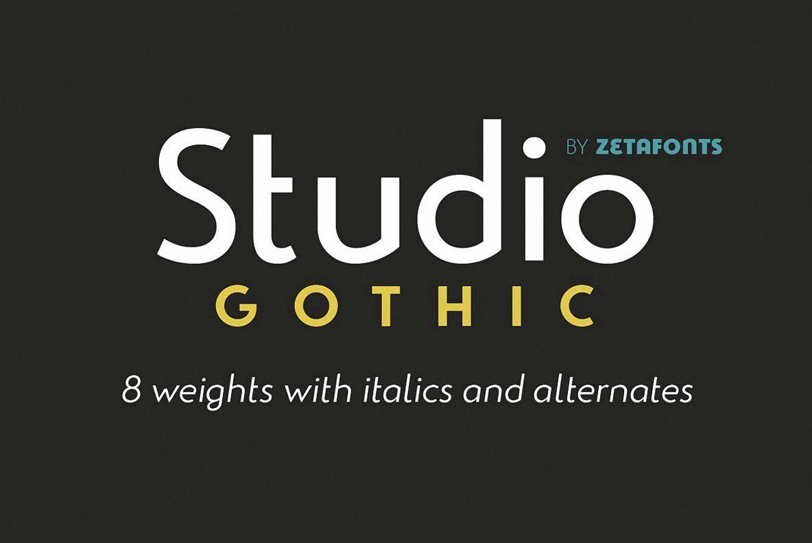 Шрифт Studio Gothic