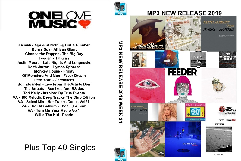 MP3 New Releases 2019 Week 34
