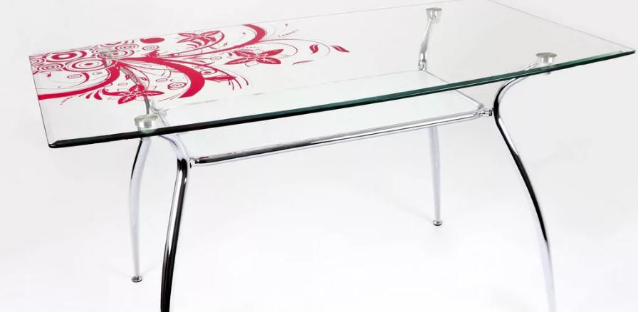 Стеклянные столы с подстольем