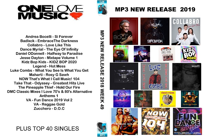 MP3 NEW RELEASES 2019 WEEK 49
