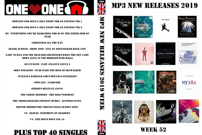 MP3 NEW RELEASES 2019 WEEK 52