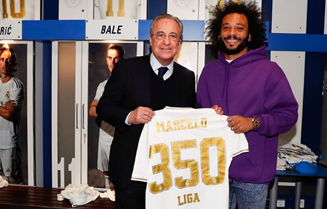 """Марсело провёл 350-й матч за """"Мадрид"""" в Ла Лиге"""