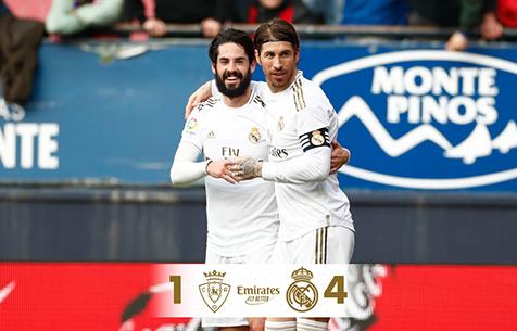 CA Osasuna - Real Madrid C.F. 1:4