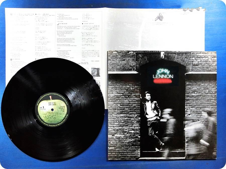 lennon, john rock'n'roll  (two lyrics inserts,no obi, cover in perfect condition with no wear, vinyl looks and pl