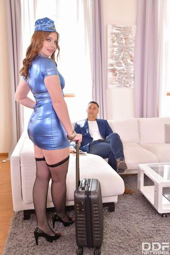 Mona Sweet - Flight Attendant's Welcome Home Fuck (2020) SiteRip |