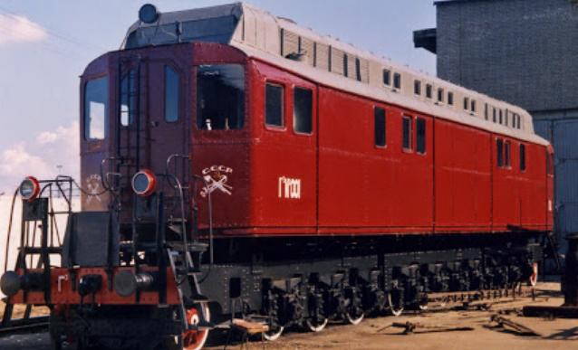 Первый в СССР тепловоз ЩЭЛ-1, выставленный в музее железных дорог России