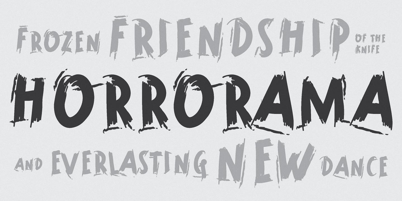 Шрифт Horrorama