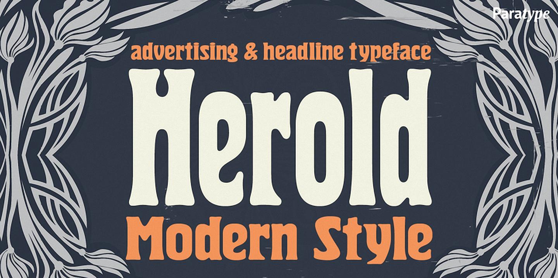 Шрифт Herold