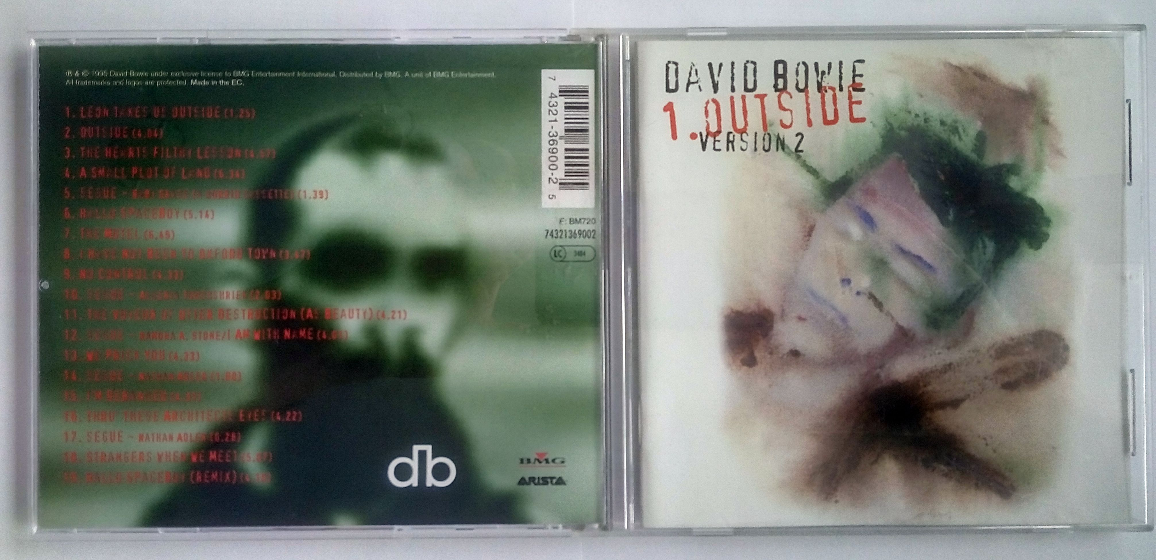 BOWIE, DAVID 1. Outside Version 2 (The Nathan Adler Diaries: A Hyper Cycle)