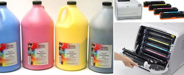 Заправка цветных лазерных картриджей